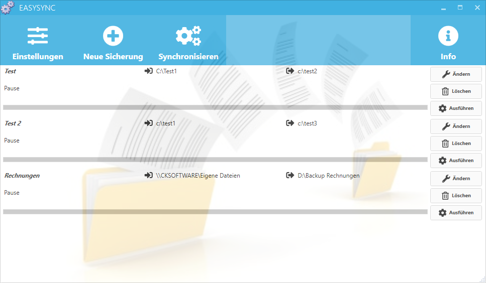 EasySync - Dateien synchronisieren