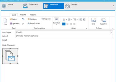 Personal-Office-Mailer - Serienmail und Newsletter - Bild einfügen