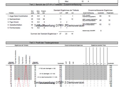Testauswertung DTVP-3 Auswertungsbogen