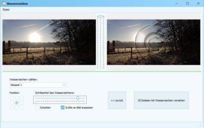 Neu: Fotos schützen mit Wasserzeichen Pro