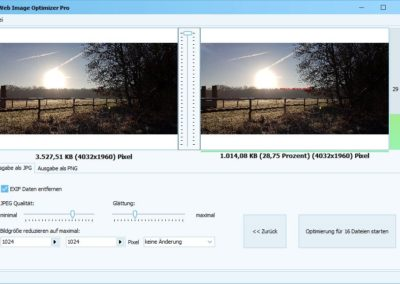 Web Image Optimizer - Einstellungen