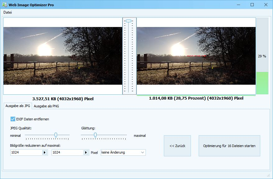 Web Image Optimizer – Neues Programm