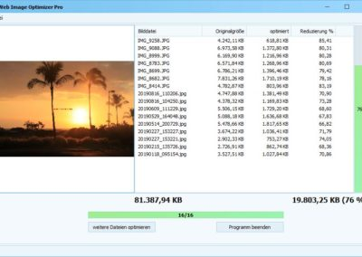 Web Image Optimizer - Optimierung