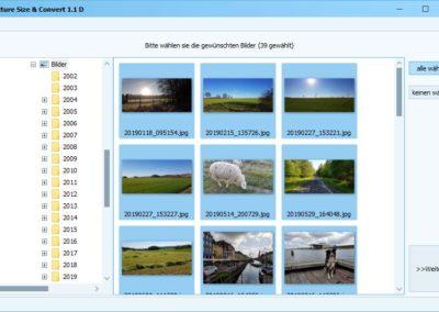 Bilder konvertieren - Dateiauswahl