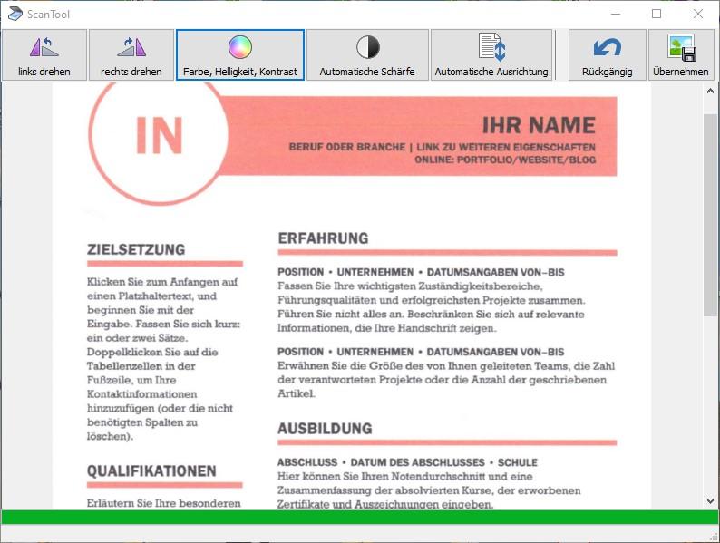 Scannen als PDF