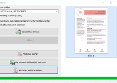 Scannen als PDF - ScanTool