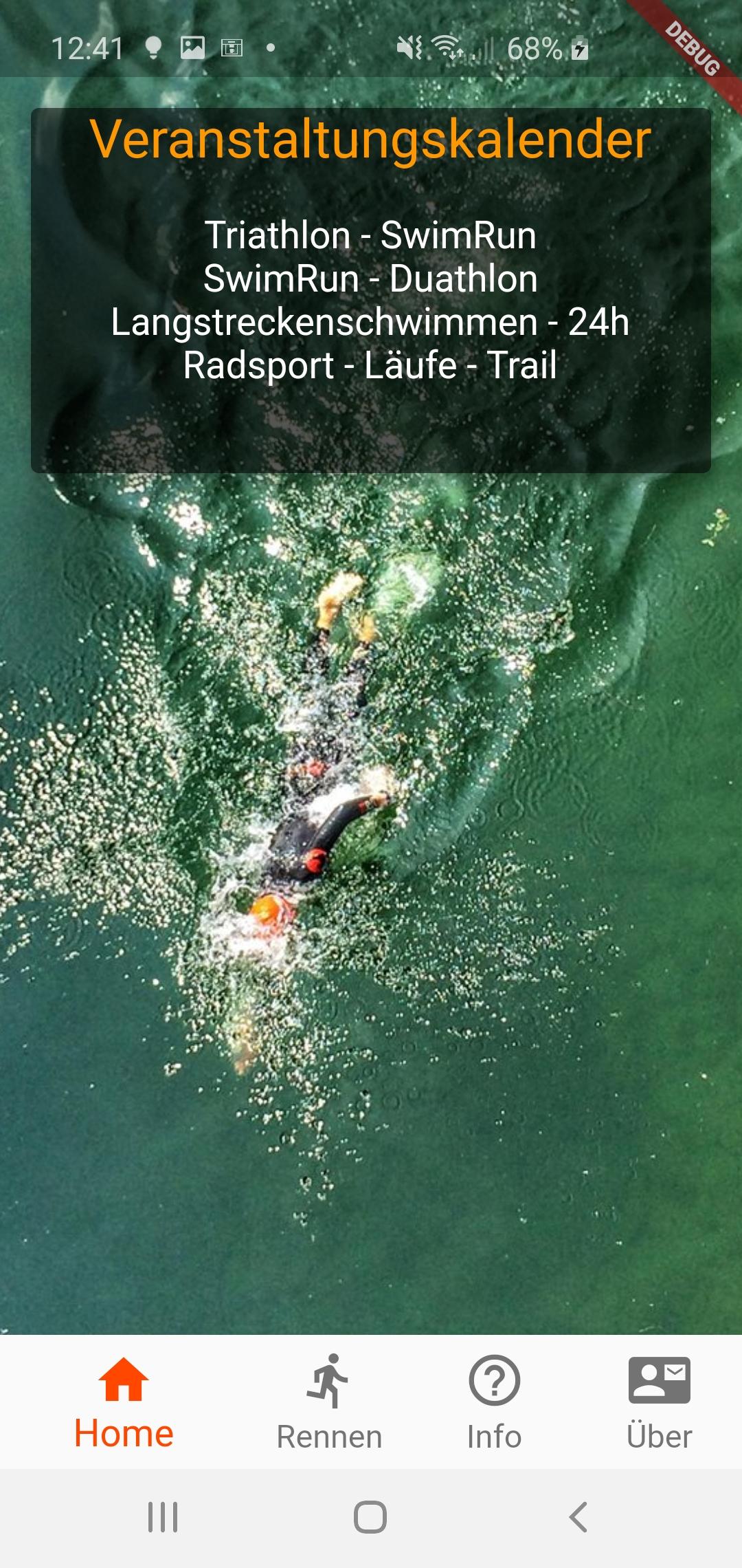 App Entwicklung - Going Tough - Triathlon Veranstaltungen für Android und IOS 1