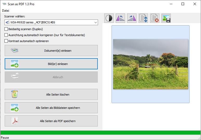 Scannen als PDF mit dem ScanTool 1